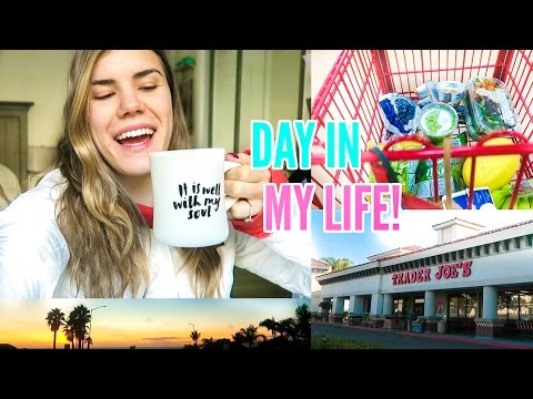 DAY IN MY LIFE! Grocery Shopping & Healthy Eats! Vlogmas Day 5!
