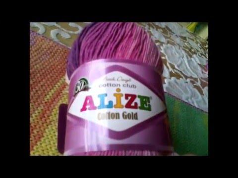 Обзор и тест Alize Cotton Gold/ ВТО пошаговый.