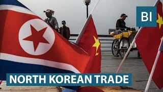 What does North Korea trade with the world?