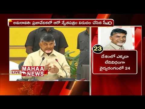 AP CM Chandrababu Press Meet LIVE | Chandrababu  Releases 6th White Paper | Mahaa News