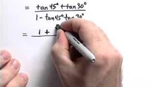 Using the SUM FORMULA in trigonometry (tan75°)