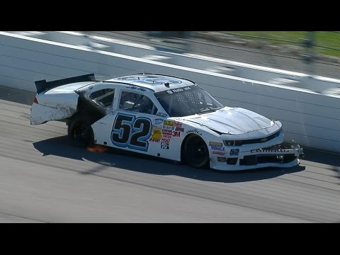 Gase and Townley Crash @ 2014 NASCAR Nationwide Kansas
