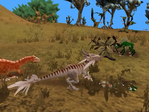 Spore Rogue Allosaur rampage part 1 of 4