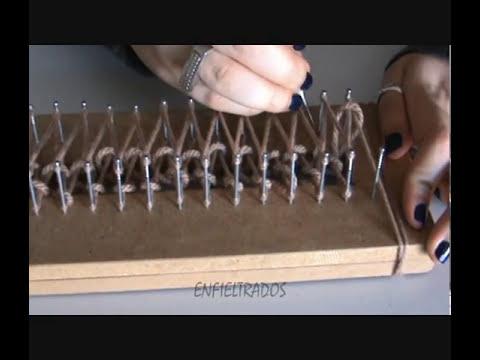 Cómo hacer una bufanda con telar (scarf loom)