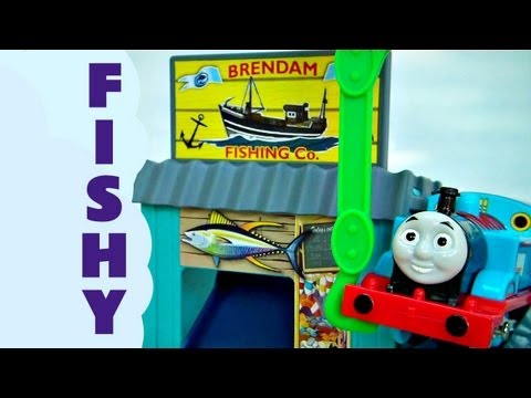 Thomas The Tank Engine Thomas and Friends Trackmaster Brendam Fishing Co Set