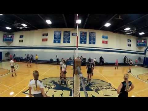 KCC women's volleyball vs. Ancilla College (time-lapse)