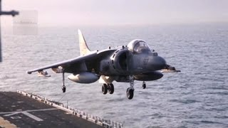 AV-8B Harrier Jump Jet In Action! Vertical Landing and Short Takeoff