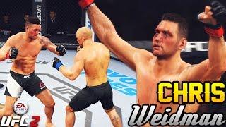 Chris Weidman Putting On A Show! 4 Round Stand Up Match! EA Sports UFC 2 Online Gameplay