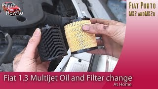 Fiat Punto Oil and Oil filter change 1.3 litre Multijet Diesel
