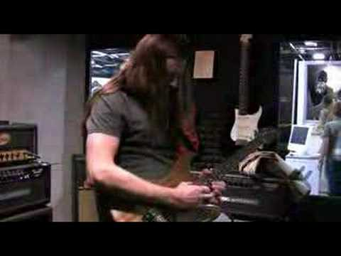 Reb Beach warming up at the NAMM 2008 Suhr booth