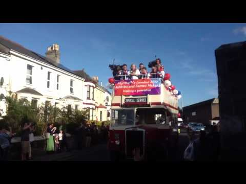 Tom Daley Sarah Barrow, Couch & Co set off on Plymouth Olympic/Paralympic Parade!