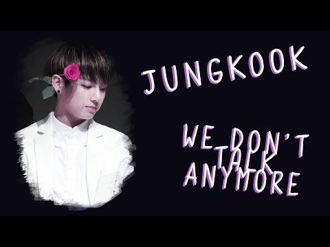 [TWT] BTS Jungkook - We Don't Talk Anymore (Cover lyrics)