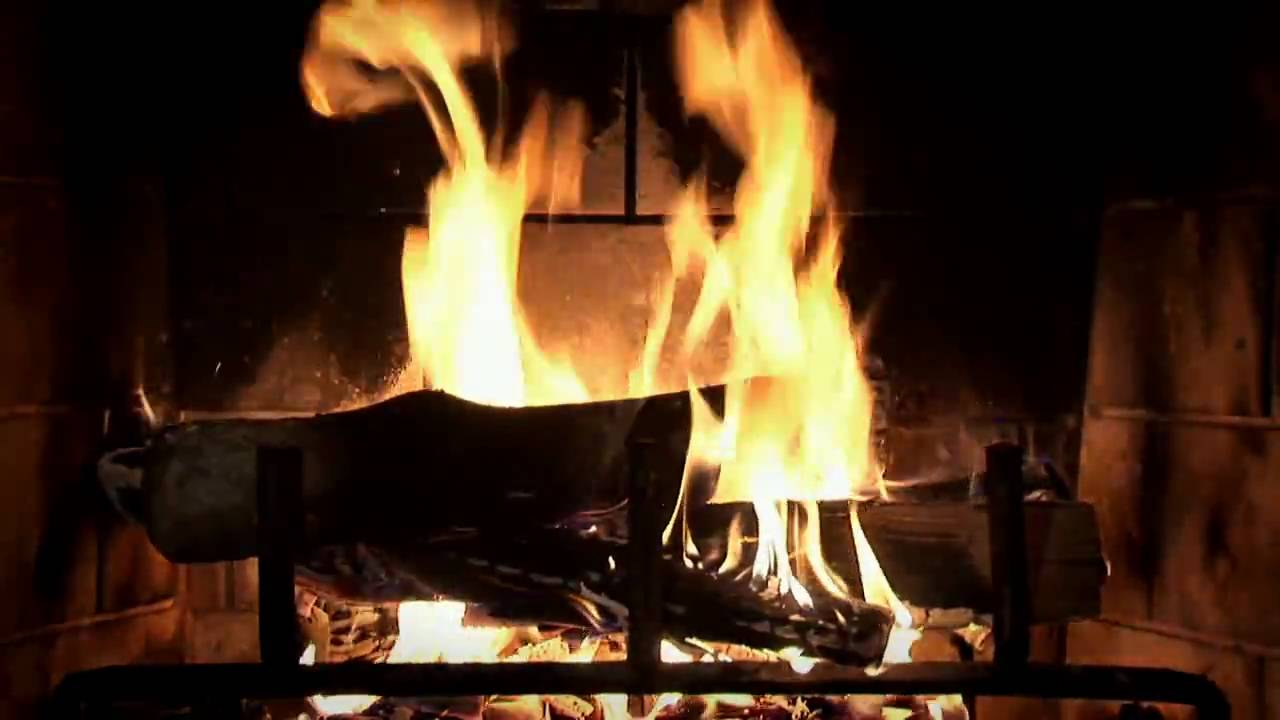 Beautiful Wood Burning Fireplace Yule Log Video Download