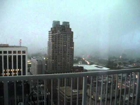 Raleigh Downtown Tornado as seen from RBC Plaza (26th Floor) 4/16/11