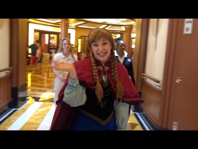 Princess Anna from FROZEN Meet and Greet on Disney Cruise Line Dream Ship - Talks Elsa, Ariel, Olaf