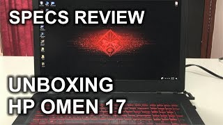 Unboxing and Quick Specs Review of the HP Omen 17