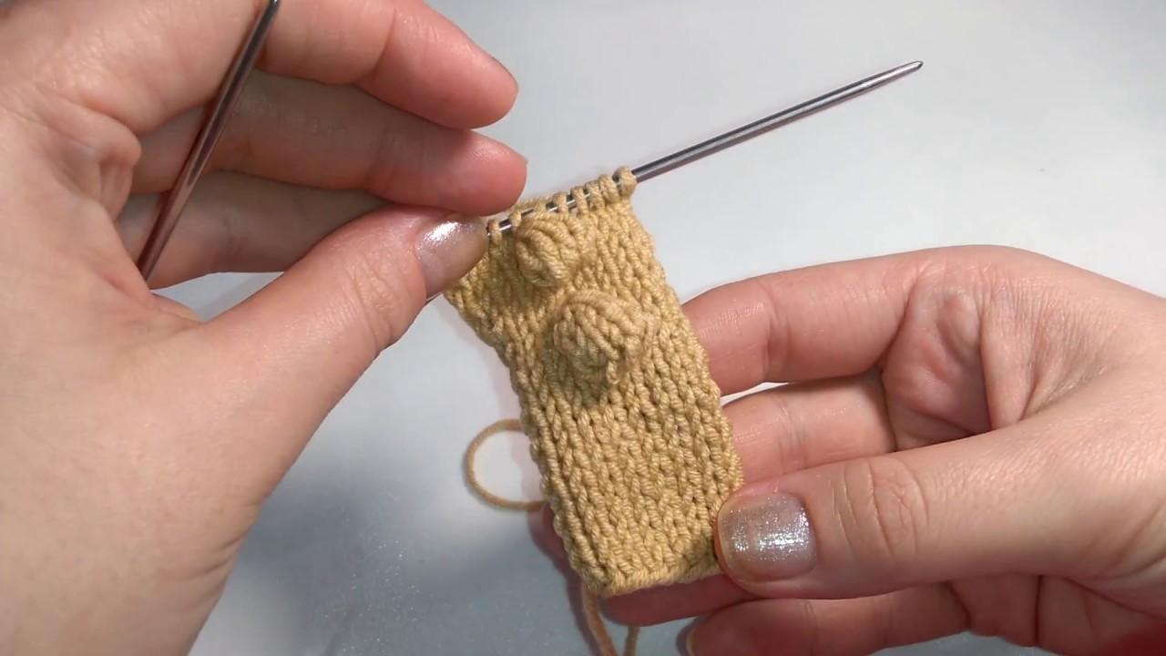 Вязание крючок шишечки 13