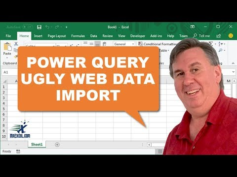 Learn Excel Ugly Web Data into Excel with Power Query Podcast 1947
