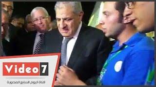 بالفيديو.. محلب يفتتح معرض الابتكار بجامعة عين شمس ويتفقد سيارة