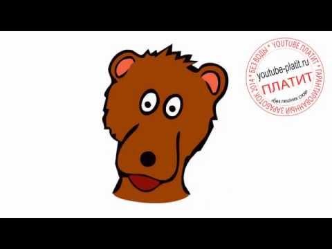 Видео как нарисовать спящего медведя