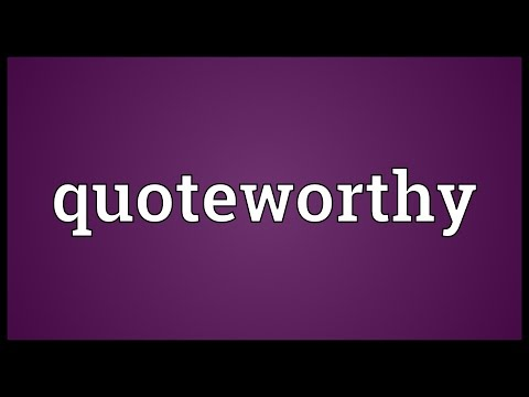 Header of quoteworthy