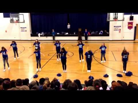 Cape Fear Middle School Football Season Cheerleaders 2013-2014 Pep Rally