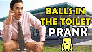 Balls in The Toilet Prank