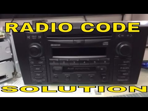 vw audi radio code unlock youtube. Black Bedroom Furniture Sets. Home Design Ideas