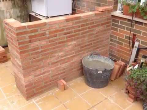 Como se hace una barra de ladrillo rustico rustic brick - Como disenar una cocina rustica ...