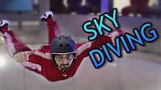 SKY DIVING For The First Time (indoor experience)