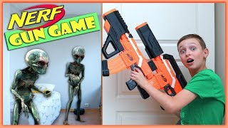NERF GUN GAME: ALIEN INVASION meets NERF | Extraterrestrial Creature Nerf Battle