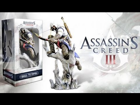 Assassin's Creed 3 Connor Hunter Figurine & Hidden Blade Unboxing Review First Look