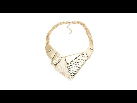 Melissa Gorga 'Lucky Lady' Geometric Bib Necklace