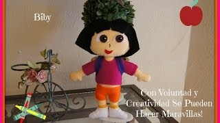 DORA EXPLORADORA EN FIELTRO TUTORIAL