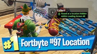 Fortnite Fortbyte #97 Location - Found at a location hidden within Loading Screen #8