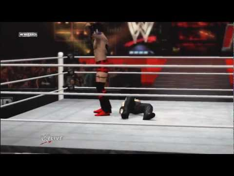 My First Create A Wrestler (CAW) In WWE ´12 Entrance + Finisher / Signature