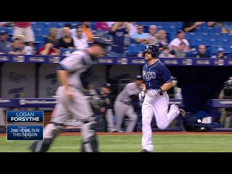 NYY@TB: Forsythe homers to extend Rays' lead in 4th