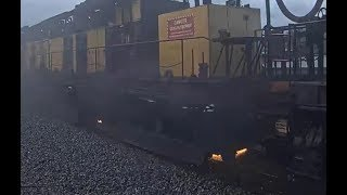 LORAM RAIL GRINDER WITH MOW!   WAUPACA, WI  2 Weeks after Deshler, OH!