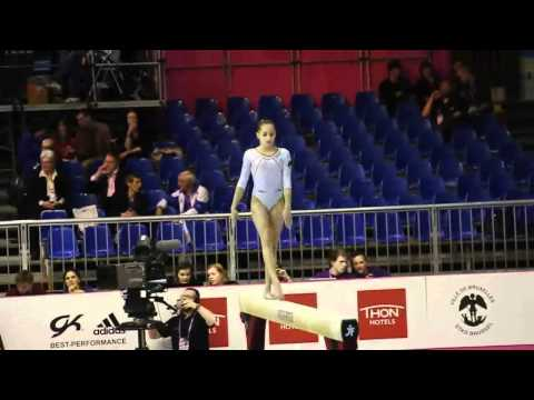 Larisa Andreea IORDACHE ROU, Beam, Team Final, European Gymnastics Championships 2012
