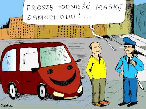 Dowcipy Rysunkowe  O  Samochodach