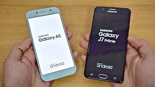 Samsung Galaxy A5 (2017) vs Galaxy J7 Prime - Speed Test! (4K)