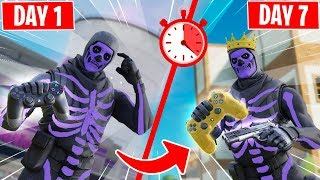 7 days of CONTROLLER PROGRESSION in Fortnite...