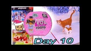 Day 10 ! LOL Surprise - Playmobil - Schleich Animals Christmas Advent Calendar - Cookie Swirl C