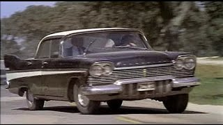 '57 Plymouth in car chase antics