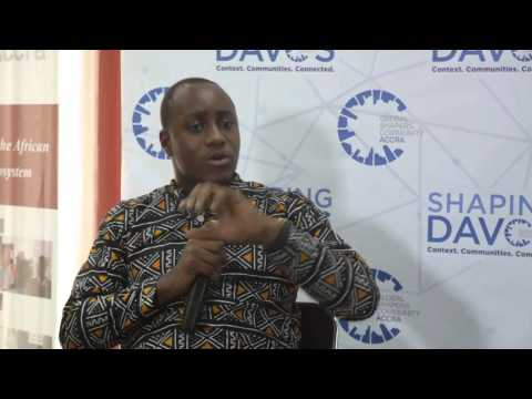#ShapingDavos in Accra 2016 - John Armah (3) #ShapingJobs