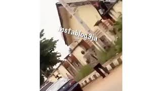 Many left in disbelief as a drunk boy drives his #Lexus SUV over a fence in #Asaba, #Delta State