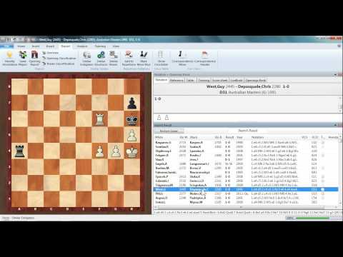 ChessBase 12 Similar endgames etc