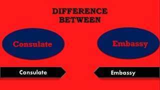 Difference between  Consulate and Embassy (Consulate vs Embassy)