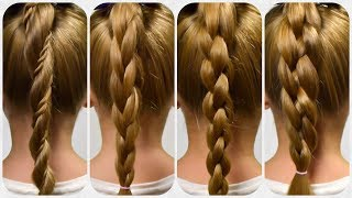 NEW style ☝ TOP FOUR 3D BRAIDs ✿ HOW TO BRAID FOR BEGINNERS ✿ Braid Tutorial #2