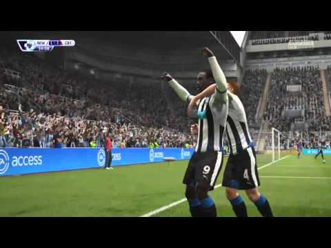 Papiss Cisse with an absolute screamer against Crystal Palace for Newcastle!